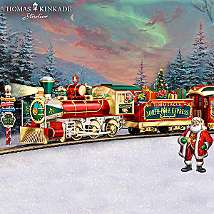 Thomas Kinkade Lighted North Pole Express Train Collection