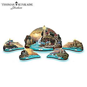 Thomas Kinkade Illuminated Lighthouse Sculpture Collection