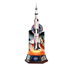 Legacy Of Innovation Illuminated Rocket Sculpture Collection