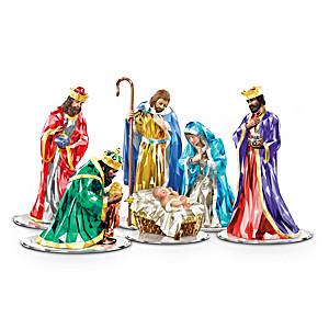 Crystalline Nativity Figurine Collection