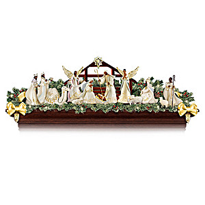 """Joyful Blessings"" Illuminated Nativity Garland Collection"