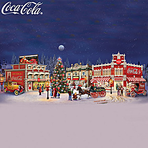 COCA-COLA Holiday Memories Illuminated Village Collection
