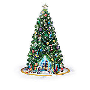Jeweled Nativity Pre-Lit Christmas Tree Collection