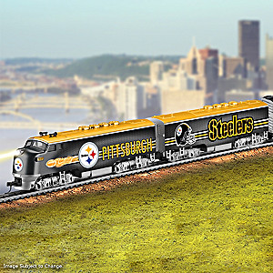 Pittsburgh Steelers Electric Train With Lighted Locomotive