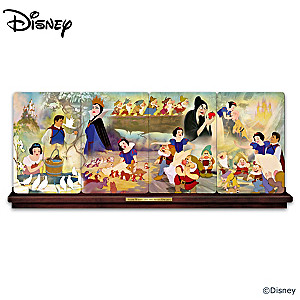 Snow White And The Seven Dwarfs Panorama Plate Collection