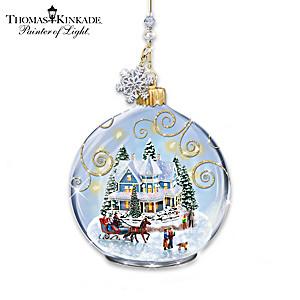 Thomas Kinkade Celebrate The Season Ornament Collection