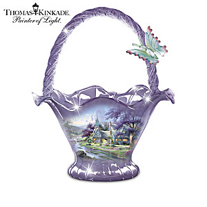 Thomas Kinkade Reflections Of Serenity Glass Bowl Collection