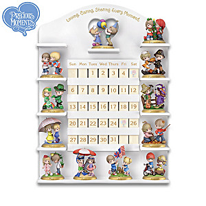 Precious Moments Perpetual Calendar Collection With Display