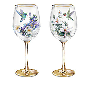 Garden Treasures Wine Glass Collection