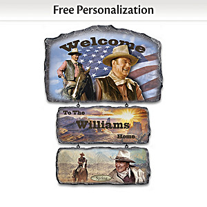 Personalized John Wayne Welcome Sign Collection