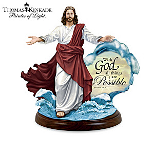 Thomas Kinkade Miracles Of Christ Illuminated Sculptures