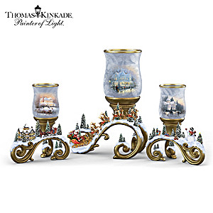 Thomas Kinkade Holiday Candleholder Collection