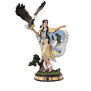 """Ted Blaylock """"Guiding Wings"""" Maiden Sculpture Collection"""