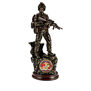 """USMC: Proud History"" Cold-Cast Bronze Sculpture Collection"