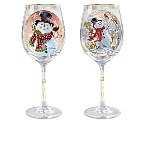 Holiday Cheer Wine Glass Collection