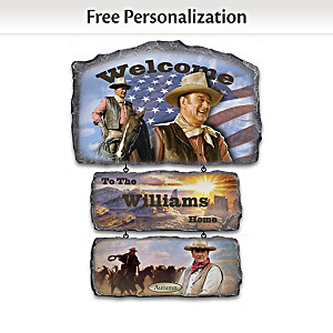 John Wayne Welcome Sign Collection Personalized With Name