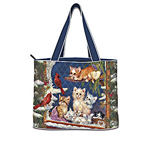 Jürgen Scholz Cat-Themed Quilted Tote Bag Collection