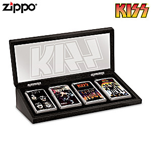 KISS® Zippo® Lighter Collection With Display Case