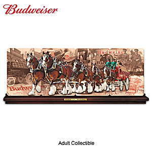 Budweiser: King Of Beers Porcelain Panorama Plate Collection