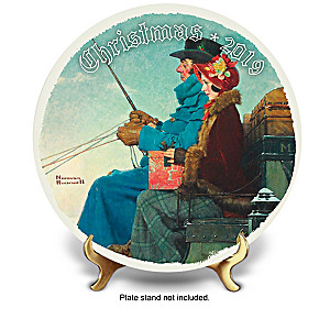Rockwell Christmas Annual Porcelain Plate Collection