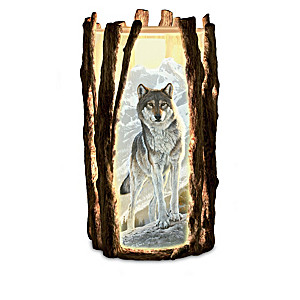 Al Agnew Visions Of The Wild Wolf Art Sculpted Candleholders