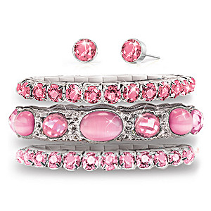 Crystal Bracelet Collection With FREE Matching Earrings