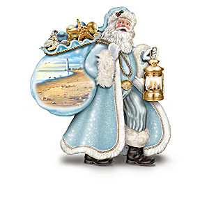 Santa By The Sea Illuminated Figurine Collection