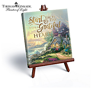Thomas Kinkade Miniature Art Canvas Collection With Easels