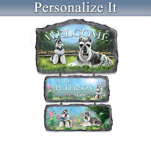 Linda Picken Schnauzers Personalized Welcome Sign Collection
