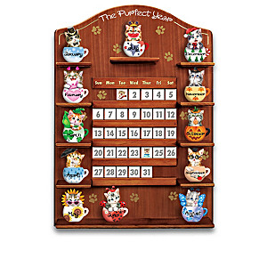 Kayomi Harai Teacup Cat Perpetual Calendar Collection
