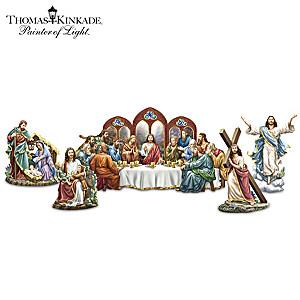 Thomas Kinkade Porcelain Story Of Jesus Sculptures