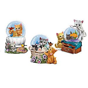 Just Kitten Around Glitter Globe Collection