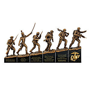 USMC History Timeline Cold-Cast Bronze Sculpture Collection