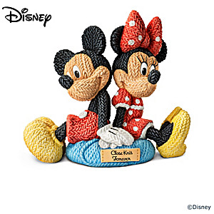 Disney Character Sculpture Collection With Knitted Yarn Look