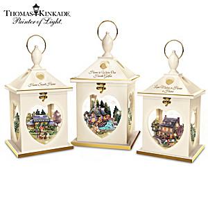 Thomas Kinkade Illuminated Cottage Lantern Collection