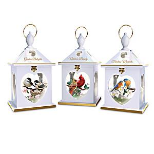 """""""Nature's Gathering"""" Illuminated Songbird Lantern Collection"""