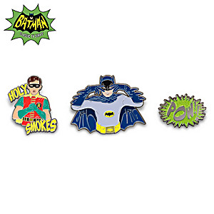 Batman And Robin Classic TV Inspired Enameled Pin Collection