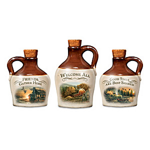 Terry Redlin's Country Life Miniature Stoneware Jugs
