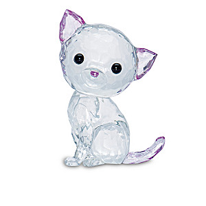 """""""Brilliant Cats"""" Hand-Tinted Art Glass Figurines"""
