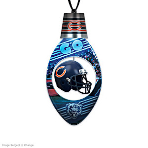 Chicago Bears Color-Changing Laser-Etched Ornaments