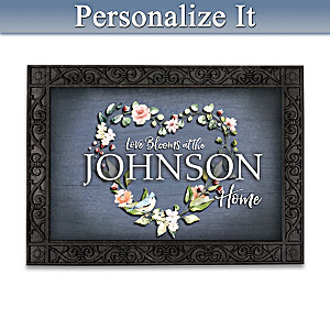 """""""Changing Seasons"""" Personalized Welcome Mat Collection"""