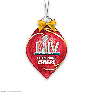 Chiefs Super Bowl LIV Lighted Glass Ornament Collection