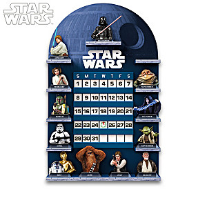 STAR WARS Perpetual Calendar Collection With Display