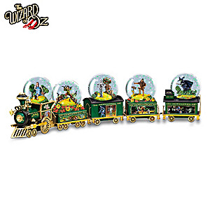 Journey To OZ Musical Glitter Globe Train Collection