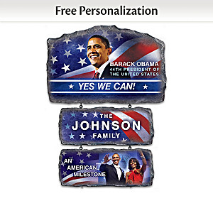 President Obama Welcome Sign Personalized With Your Name