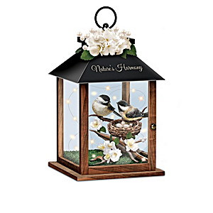 """Natures Harmony"" Illuminated Songbird Lanterns"