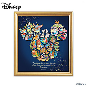 Disney Puzzle Pin Collection Creates Mickey Mouse Silhouette