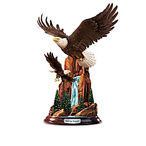 """Height Of Majesty"" Hand-Painted Eagle Sculpture Collection"