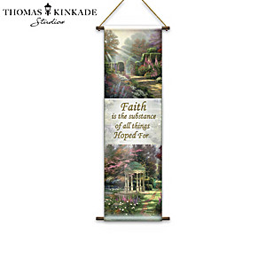 """Thomas Kinkade """"God's Promises"""" Fabric Tapestry Collection"""