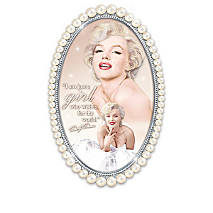 Marilyn Monroe Wall Decor Collection With Faux Pearl Frame